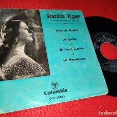 Discos de vinilo: CONCHITA PIQUER ROSA DE MADRID/DE SEVILLA/LA MAREDEUETA +1 EP 195? COLUMBIA. Lote 222649317