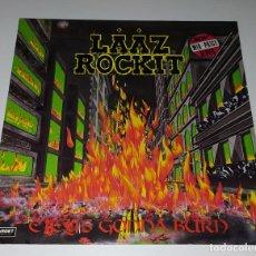 Discos de vinilo: LP LAAZ ROCKIT - CITY´S GONNA BURN. Lote 222654591