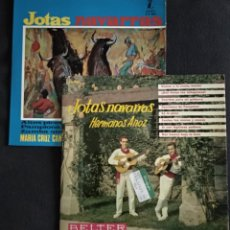 Discos de vinilo: LOTE VINILOS (NUEVOS) FOLKLORE REGIONAL JOTAS NAVARRAS - MARIA CRUZ CAMPO / HERMANOS ANOZ (SINGLES). Lote 222662496