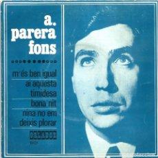 Discos de vinilo: ANTONI PARERA FONS - M'ÉS BEN IGUAL (EP) 1968 - CANÇÓ CATALANA ILLES BALEARS. Lote 222668128