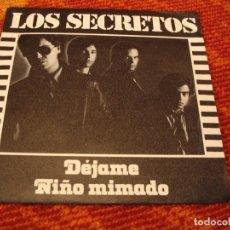 Disques de vinyle: LOS SECRETOS SINGLE DÉJAME POLYDOR ESPAÑA 1980. Lote 222672313