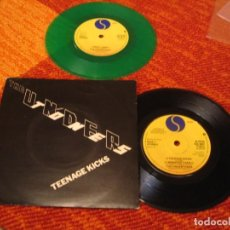 Dischi in vinile: LOTE X 2 UNDERTONES SINGLE TEENAGE KICKS SIRE UK 78 + JIMMY JIMMY VINILO VERDE UK 79 ( SIN PORTADA ). Lote 222673305