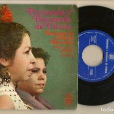 Discos de vinilo: DISCOS. SINGLES VINILO: FERNANDA Y BERNARDA DE UTRERA. HISPAVOX 16681. (P/B72.C2). Lote 222674350