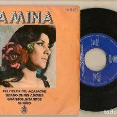 Discos de vinilo: DISCOS. SINGLES VINILO: AMINA. DEL COLOR DEL AZABACHE. HISPAVOX 16.801. (P/B72.C2). Lote 222675751