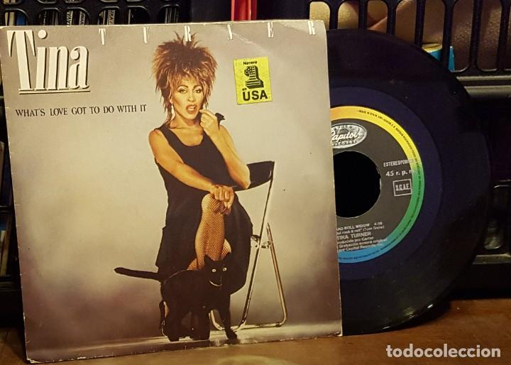 TINA TURNER - WHAT´S LOVE GOT TODO WITH IT (Música - Discos de Vinilo - Singles - Pop - Rock Extranjero de los 80)