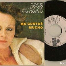 Discos de vinilo: DISCOS. SINGLES VINILO: ROCIO DURCAL ME GUSTAS MUCHO. OBSEQUIO STARLUX. (P/B72.C2). Lote 222677906