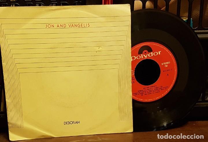 JON AND VANGELIS - DEBORAH (Música - Discos de Vinilo - Singles - Pop - Rock Extranjero de los 80)