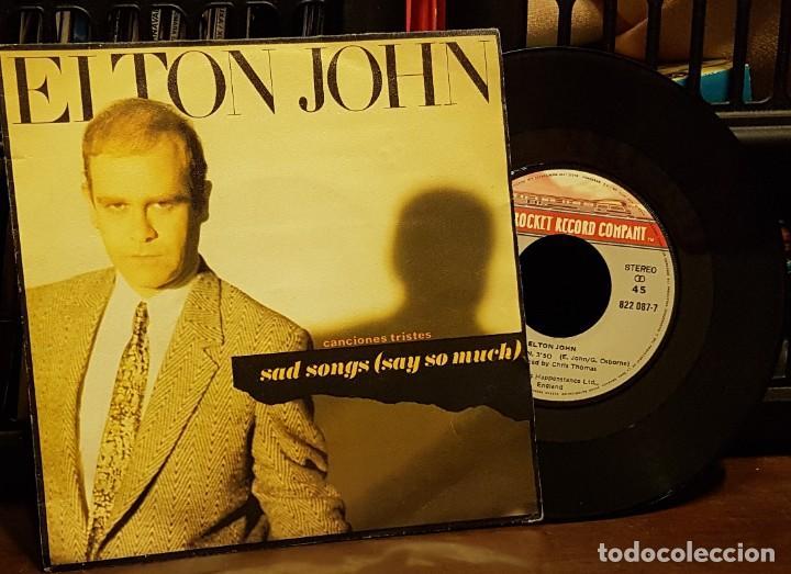 ELTON JOHN - SAD SONGS (Música - Discos de Vinilo - Singles - Pop - Rock Internacional de los 80)