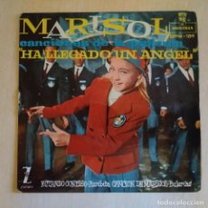 Discos de vinilo: MARISOL - HA LLEGADO UN ANGEL - ESTANDO CONTIGO +3 EP ZAFIRO 1961 AUGUSTO ALGUERO (GALLETA DISTINTA). Lote 222681830
