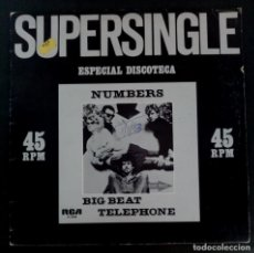 Discos de vinilo: NUMBERS - BIG BEAT / TELEPHONE - MAXI SINGLE 1982 - RCA. Lote 222682667