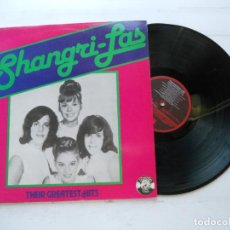 Discos de vinilo: THE SHANGRI-LAS ‎– THEIR GREATEST HITS LP ESPAÑOL 1984 NM/EX COMO NUEVO. Lote 222685818