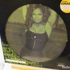 Discos de vinilo: JANET JACKSON - PICTURE DISC MAXI SINGLE 45 RPM - IMPECABLE CON POSTER. Lote 222687518