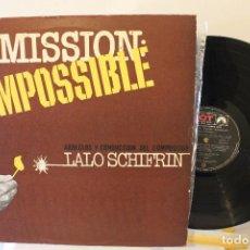 Discos de vinilo: LALO SCHIFFRIN - DISCO DE VINILO - MISION IMPOSIBLE Y OTROS - IMPECABLE ARGENTINA. Lote 222688647