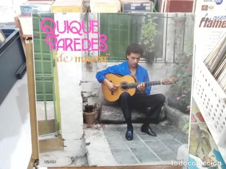 QUIQUE PAREDES - DE MAERA (BULERÍA, GRANAÍNA, TANGO, ZAPATEOS, SOLEÁ, ... - LP. PASARELA DE 1987 (Música - Discos - LP Vinilo - Flamenco, Canción española y Cuplé)