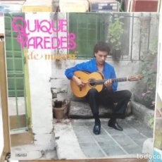 Discos de vinilo: QUIQUE PAREDES - DE MAERA (BULERÍA, GRANAÍNA, TANGO, ZAPATEOS, SOLEÁ, ... - LP. PASARELA DE 1987. Lote 222690347