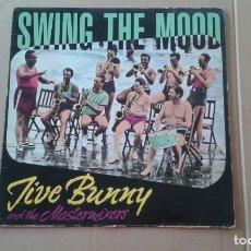 Discos de vinilo: FIVE BUNNY AND THE MASTERMIXERS - SWING THE MOOD MAXI SINGLE 1989 EDICION ESPAÑOLA. Lote 222690500