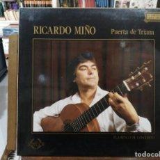 Discos de vinilo: RICARDO MIÑO - PERTA DE TRIANA - LP. DEL SELLO COLISEUM 1988. Lote 222690548