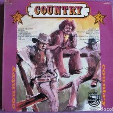 Discos de vinilo: LP - THE COW SINGERS - COUNTRY, COUNTRY, COUNTRY (SPAIN, RED POINT RECORDS 1976). Lote 222691038