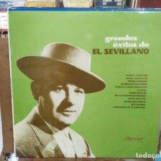 Discos de vinilo: EL SEVILLANO - GRANDES ÉXITOS DE EL SEVILLANO - LP. DEL SELLO OLYMPO 1973. Lote 222691062