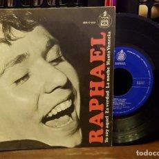 Discos de vinilo: RAPHAEL - YO SOY AQUEL - ES VERDAD- LA NOCHE - HASTA VENECIA. Lote 222691201
