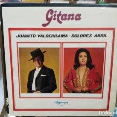 Discos de vinilo: JUANITO VALDERRAMA / DOLORES ABRIL - GITANA - LP. SELLO OLYMPO 1973. Lote 222691711
