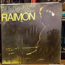 Discos de vinilo: INICI DE CANTIC - RAIMON. Lote 222692930
