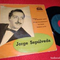Discos de vinilo: JORGE SEPULVEDA CANTAME UN PASODOBLE ESPAÑOL/ERES BONITA/CARNAVAL EN RIO +1 EP 195? REGAL. Lote 222696606