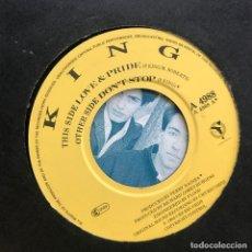 Discos de vinilo: KING - LOVE & PRIDE / DON'T STOP - SINGLE CBS UK 1984. Lote 222696761