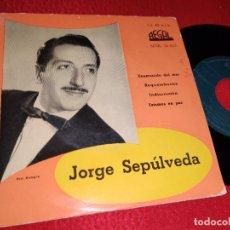 Discos de vinilo: JORGE SEPULVEDA ENAMORADO DEL MAR/ESTAMOS EN PAZ/INDISCRECION +1 EP 195? REGAL. Lote 222696878