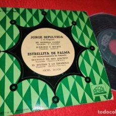 Discos de vinilo: JORGE SEPULVEDA MI MORENA CLARA +1 / ESTRELLITA DE PALMA MANOLO DE MIS AMORES +1 EP 195? REGAL. Lote 222697378