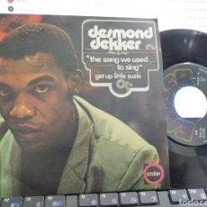 Discos de vinilo: DESMOND DEKKER SINGLE THE SONG SE USTED TO SING ESPAÑA 1971 EN PERFECTO ESTADO. Lote 222697410