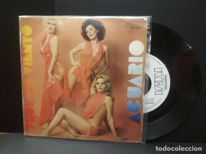 ACUARIO FLOR DE VIENTO SINGLE SPAIN 1977 PDELUXE (Música - Discos - Singles Vinilo - Grupos Españoles de los 70 y 80)