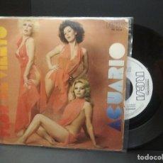 Discos de vinilo: ACUARIO FLOR DE VIENTO SINGLE SPAIN 1977 PDELUXE. Lote 222703988