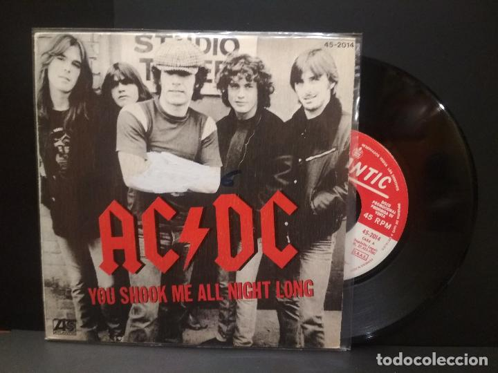 AC/DC YOU SHOOK ME ALL NIGHT LONG SINGLE SPAIN 1980 PDELUXE (Música - Discos de Vinilo - Singles - Pop - Rock Extranjero de los 80)