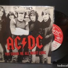 Discos de vinilo: AC/DC YOU SHOOK ME ALL NIGHT LONG SINGLE SPAIN 1980 PDELUXE. Lote 222704226