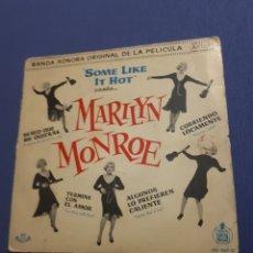Discos de vinilo: VINILO SINGLE MARILYN MONROE. BSO SOME LIKE IT HOT. 1960.. Lote 222706933