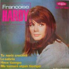 Discos de vinilo: FRANCOISE HARDY EP SELLO HISPAVOX 1963.... Lote 222707397
