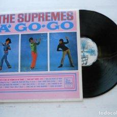 Discos de vinilo: THE SUPREMES – A' GO-GO LP ESPAÑOL 1982 NM/NM COMO NUEVO. Lote 222708161