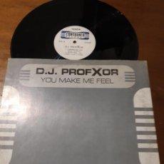 Discos de vinilo: D.J. PROFXOR - YOU MAKE ME FEEL-MAXI-ESPAÑA-1997-. Lote 222709757