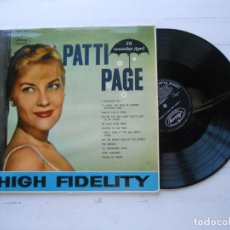Discos de vinilo: PATTI PAGE – I'LL REMEMBER APRIL LP UK 1959 MONO VG++/VG++. Lote 222711648