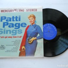 Discos de vinilo: PATTI PAGE ?– LET'S GET AWAY FROM IT ALL LP USA EX/EX. Lote 222712113