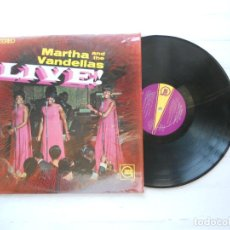 Discos de vinilo: MARTHA AND THE VANDELLAS* – LIVE! LP USA 1967 EX/EX. Lote 222712435
