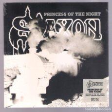 Discos de vinilo: SAXON - PRINCESS OF THE NIGHT (SINGLE 7'' 2018, BMG) NUEVO Y PRECINTADO. Lote 222712820