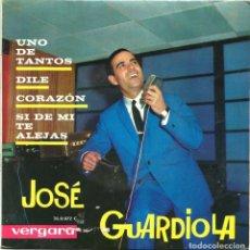 Discos de vinilo: JOSÉ GUARDIOLA (EP) 1963 - UNO DE TANTOS - DILE - CORAZÓN - SI DE MI TE ALEJAS. Lote 222713363