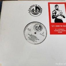 """Discos de vinilo: DJ ATKINS* & SHARADA HOUSE GANG - LET'S DOWN THE HOUSE (12"""",MAXI) BLANCO Y NEGRO.MX221.COMO NUEVO. Lote 222716278"""