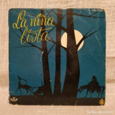 Discos de vinilo: LA NIÑA LISTA - CUENTO INFANTIL CONTADO POR MARIA ROSA SANZ SINGLE HISPAVOX DEL AÑO 1958. Lote 222716391