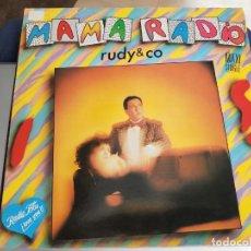 """Discos de vinilo: RUDY & CO. - MAMA RADIO (12"""", MAXI, ) SELLO:ZAFIRO CAT. Nº: OOS-857. COMO NUEVO. ITALO DISCO. Lote 222716847"""