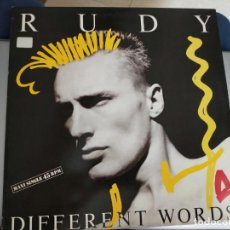 """Discos de vinilo: RUDY - DIFFERENT WORDS (12"""", MAXI) SELLO:EMI-ODEON, S.A. CAT. Nº: 052 15 COMO NUEVO. ITALO DISCO. Lote 222718718"""