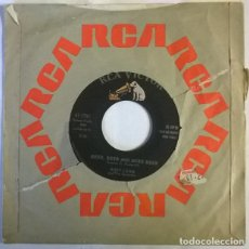 Discos de vinilo: RUDY LEWIS & THE SPUTNIKS. MOONBEAM/ BEER, BEER AND MORE BEER. RCA-VICTOR, USA 1960 SINGLE. Lote 222719248