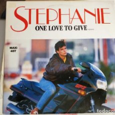 """Discos de vinilo: STEPHANIE - ONE LOVE TO GIVE (REMIX) (12"""", MAXI) SELLO:SANNI RECORDS, CARRERE CAR 8692.VINILO NUEVO. Lote 222719681"""